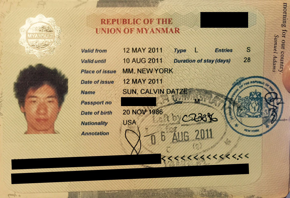 The Myanmar/Burma Visa Requirements For U.S. Citizens