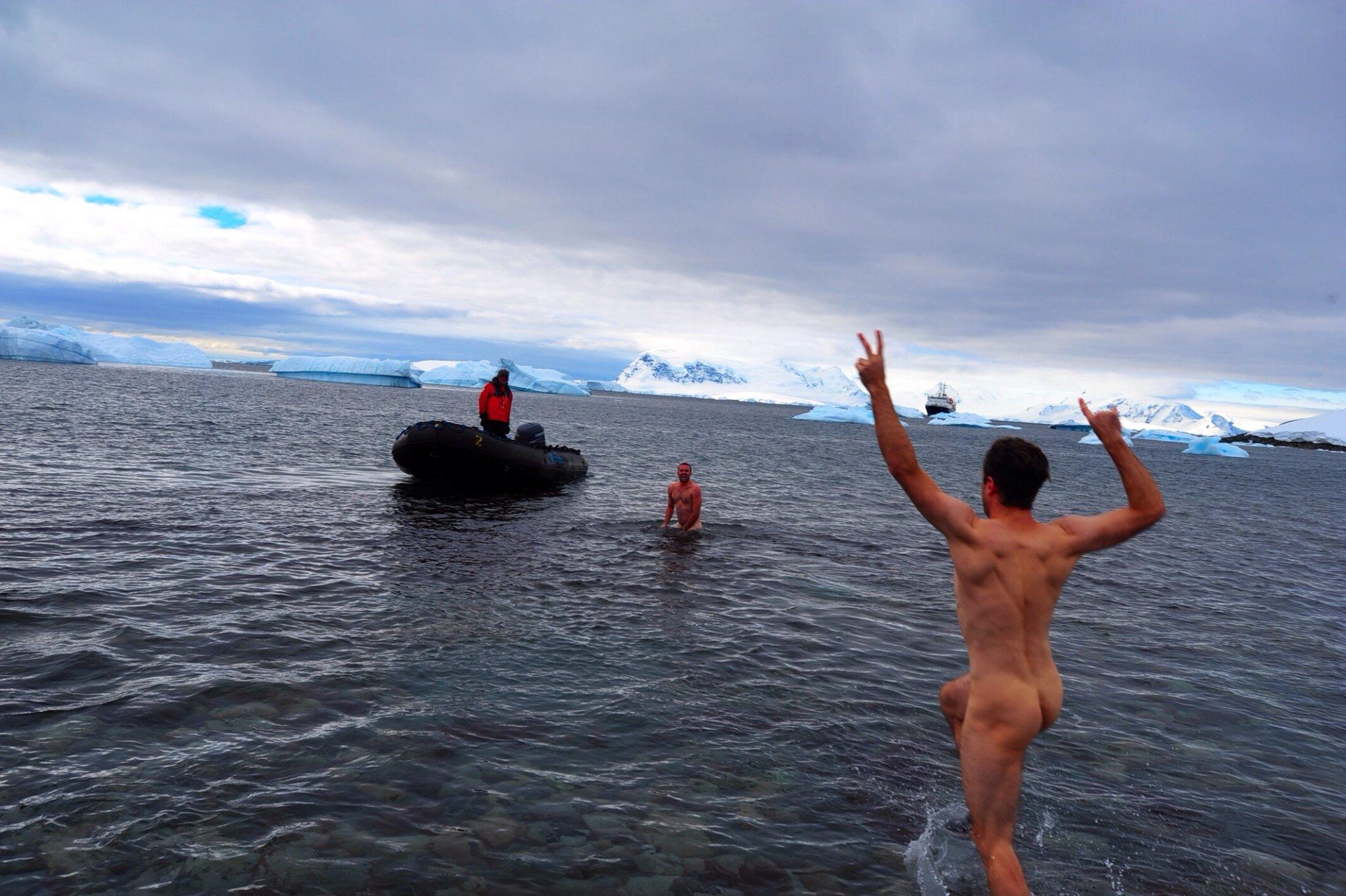 Skinny Dipping In Antarctica (NSFW)