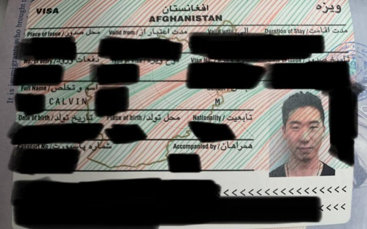 The Afghanistan Visa For Usa Passports The Monsoon Diaries